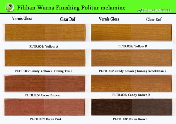Warna Finishing Politur Melamine