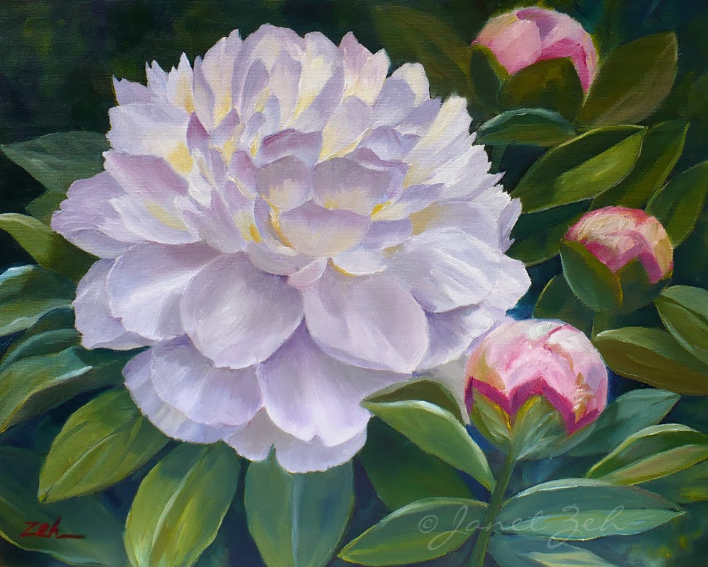 White Peony Painting | www.imgkid.com - The Image Kid Has It!