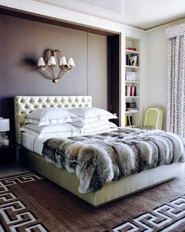 Chanel After Coco Interior Design Bed Fur Throw