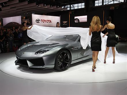 Great The New Sporty And Bold Muscles Car Wallpaper Of New 2012 Lamborghini  Estoque In Autoshow Present This Car By Girls