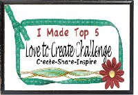Top 5 winner at Love to Create 28/05/2012