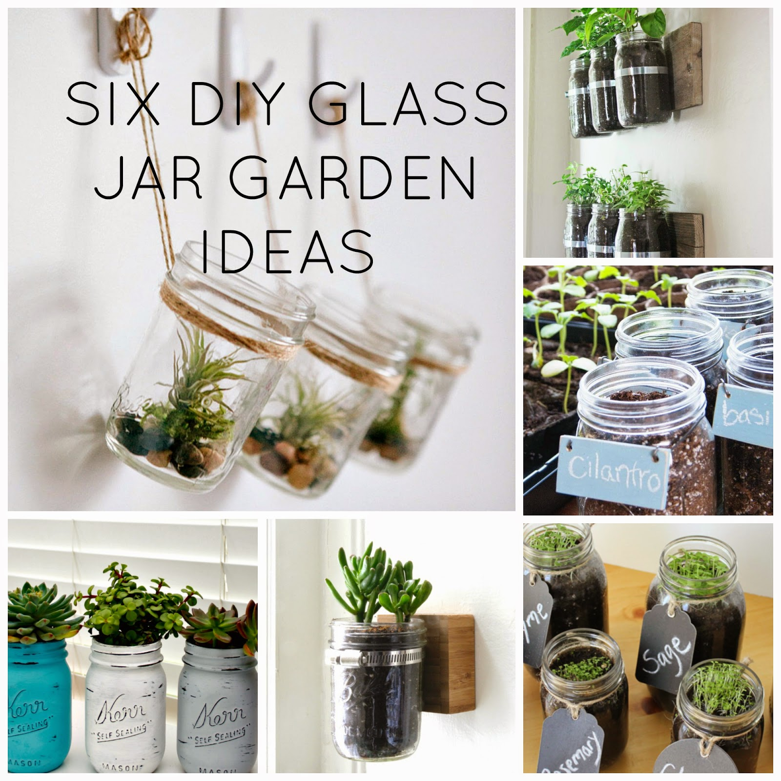 DIY: Mason Jar Inspired Garden | Glamour Coastal Living