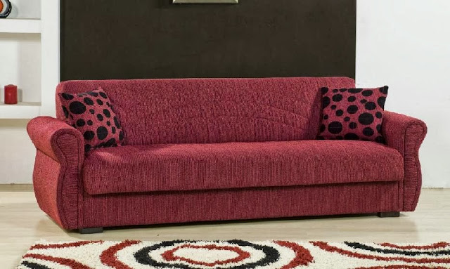 Burgundy Colour Sleeper Sofa