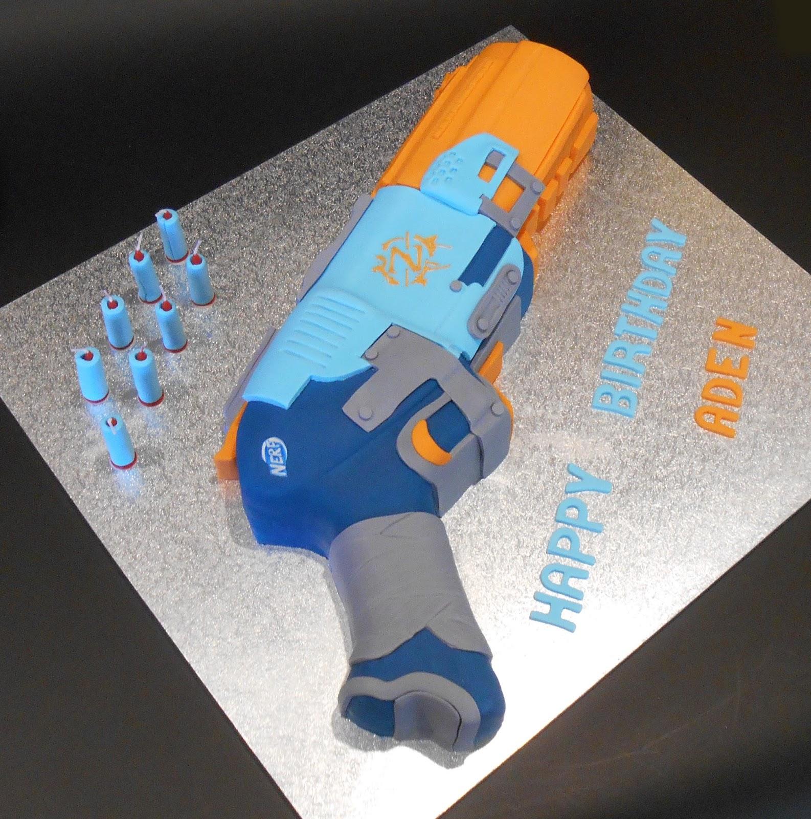 Nadas cakes 3D Nerf Gun Birthday Cake by Nadas Cakes Canberra
