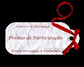 Premio de participação no forum decoupage e companhia