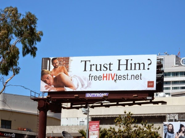 Trust Him Free HIV test billboard