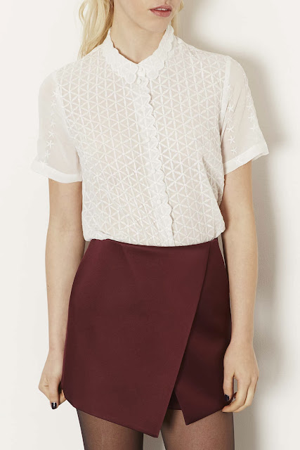 white scallop shirt