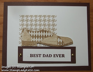 Masculine Card made with Stampin'UP!'s Beyond Plaid, Dapper Dad and Best Dad Ever