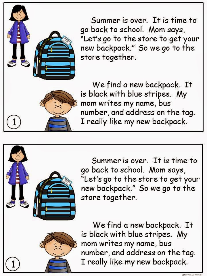 http://www.teacherspayteachers.com/Product/A-Back-To-School-Level-I-16-Guided-Reading-Book-1305672