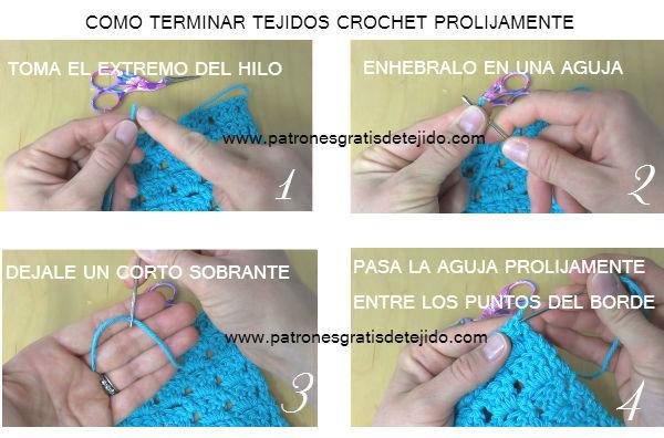 Cómo finalizar tejido crochet en forma prolija