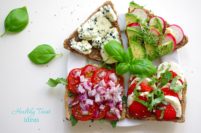 4 recipes for healthy toasts. www.fashionrolla.com