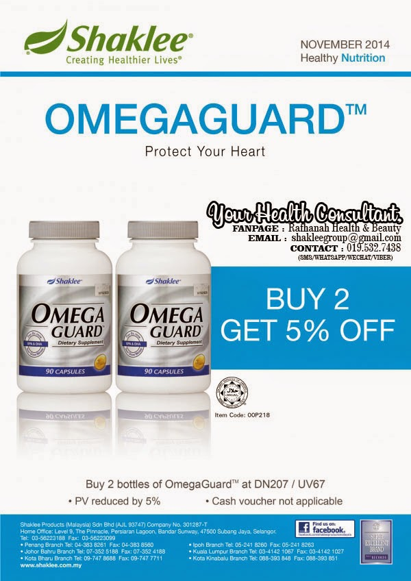Promosi Twin Pack Omega Guard Shaklee