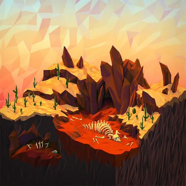 3d geometric illustrations by JR Schmidt
