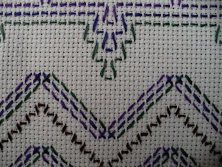 Swedish weaving is incredibly easy you simply weave your needle under