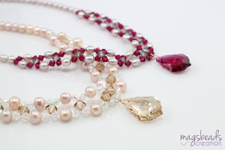 Beadwork Pearls Necklace by magsbeadscreation.com