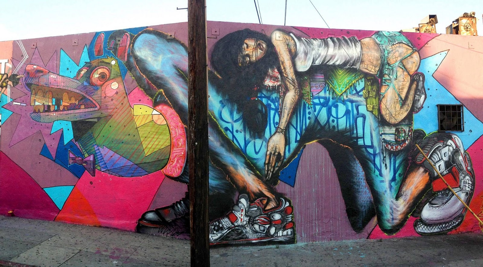 Aryz x david choe x retna new mural in los angeles usa for David choe mural