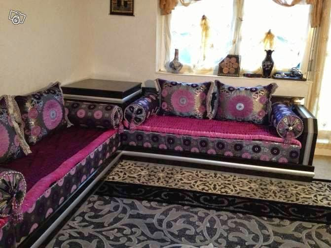 d coration de salon marocain salon marocain sur mesure d occasions. Black Bedroom Furniture Sets. Home Design Ideas