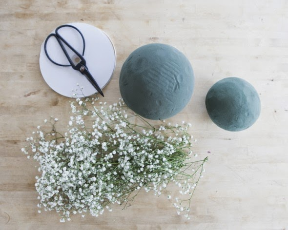 DIY. Bolas Colgantes de Paniculata.