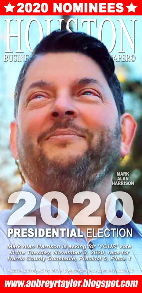 Mark Alan Harrison Values Your Vote, Prayers, and Support on Tuesday, November 3, 2020