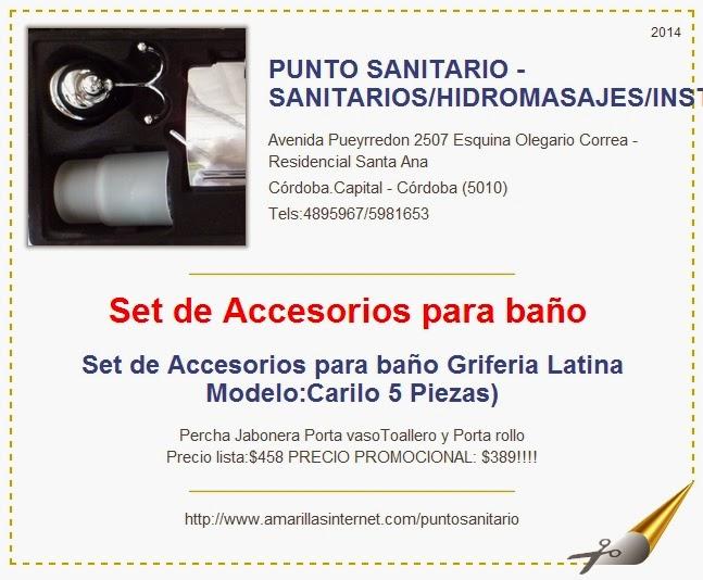 Punto sanitario set de accesorios para ba o caril 5 piezas for Set de accesorios para bano