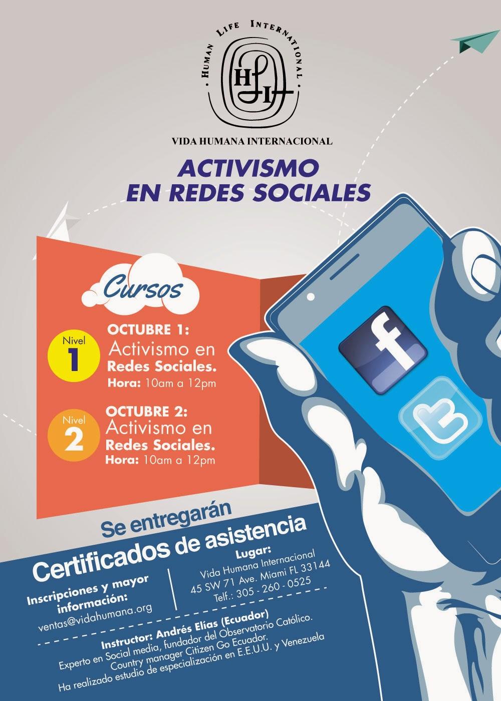 Si estás en Miami asiste al curso de Ciberactivismo y Ciberlobby