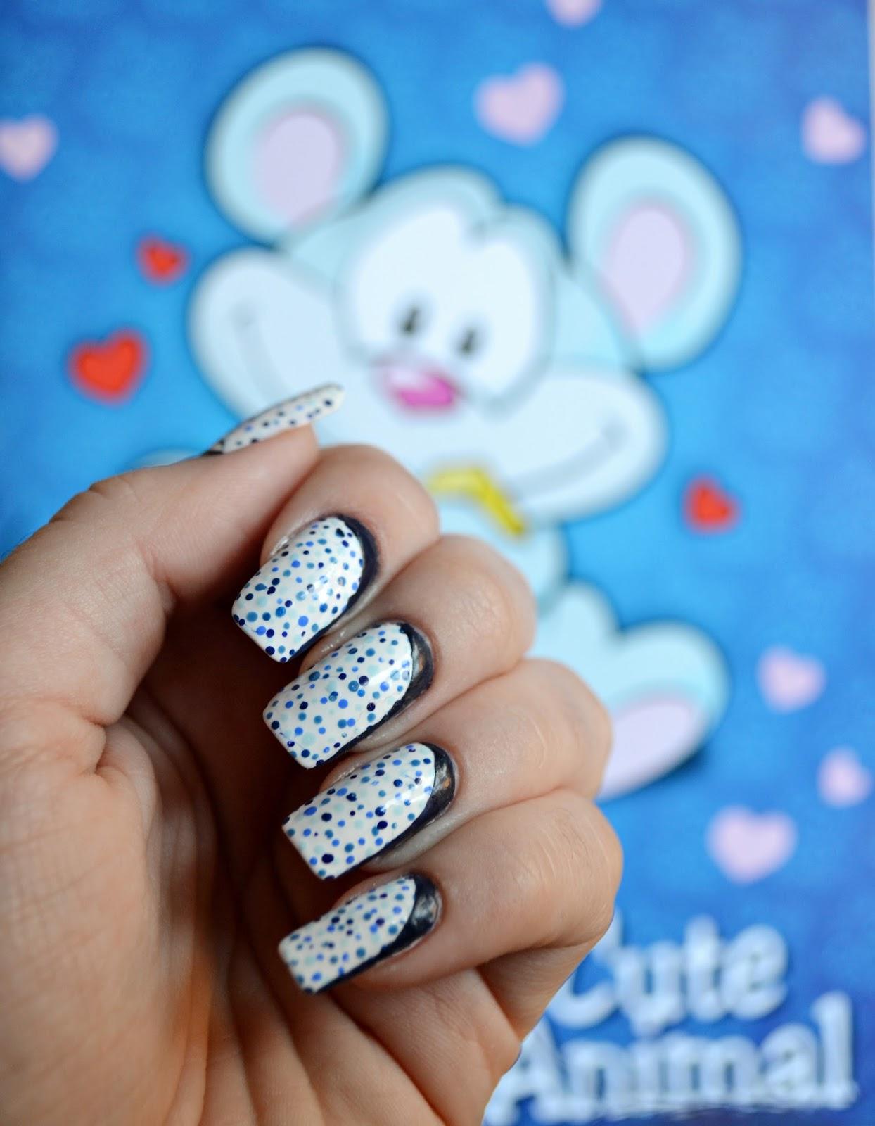 Ruffian blue dots manicure