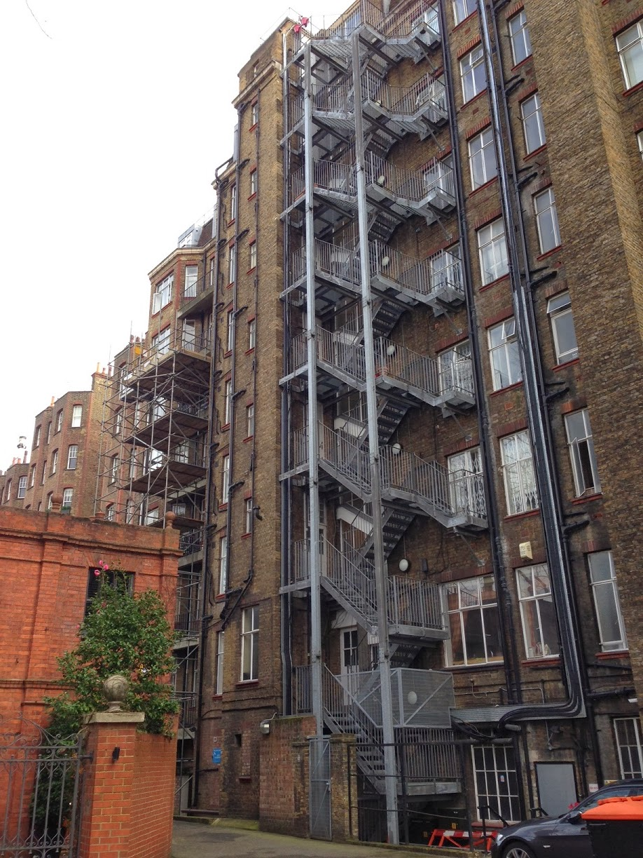 Staircases in Oakwood Court, London W14