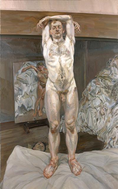 Two men in the studio by Lucian Freud,great art, arts,