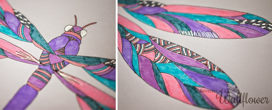 Todays Colouring Is A Dragonfly Design From Millie Marottas Animal Kingdom