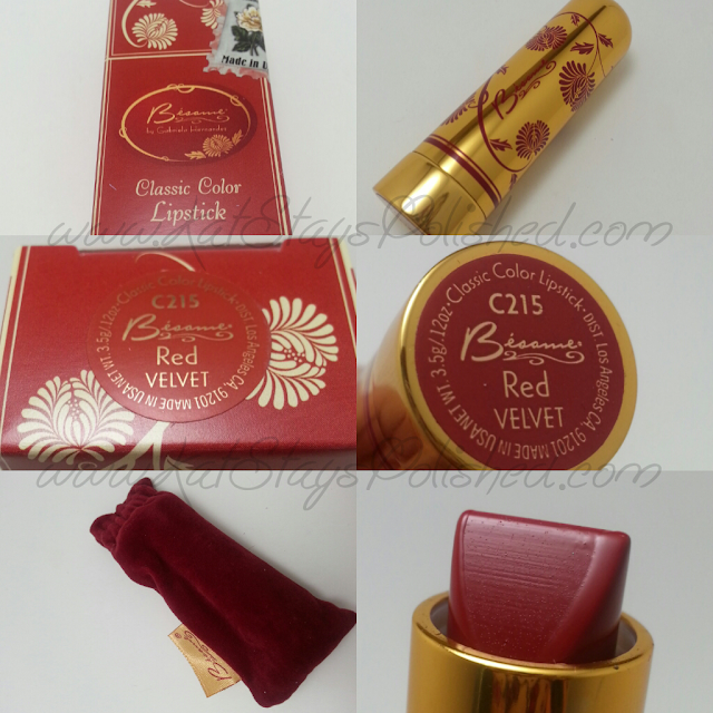 Besame Cosmetics - Classic Lip Color - Red Velvet