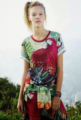 camiseta estampa arara Farm adidas Originals coleção outono inverno 2014