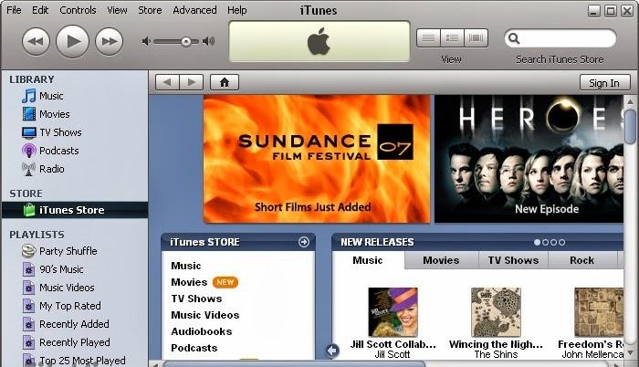 تحميل برنامج (iTunes 11.1.1 (32-bit لتشغيل الملفات الصوتيه مجانا