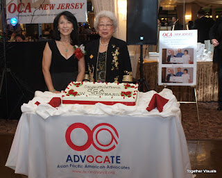 2013 OCA-NJ Holiday Ball. Ginny Gong and Betty Lee Sung Cake Cutting