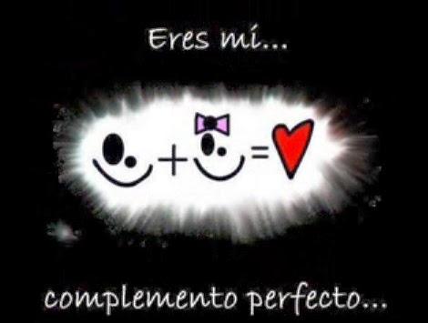 Eres mi complemento perfecto