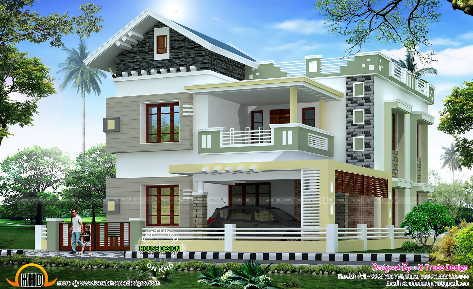 2581 Sq-ft House X Trude Design - Kerala Home