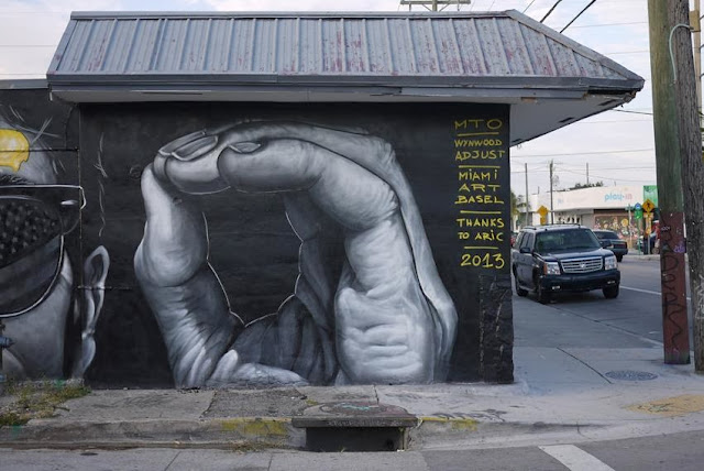 New Street Art Mural By MTO for Art Basel 2013 On The Streets of Miami, Wynwood. 4