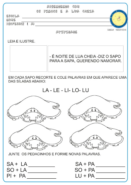 Atividade Projeto Mary França Educação Infantil/ Livro Lua Cheia