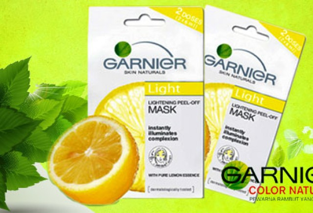 Just Tell About All My Story Garnier Peel Off Mask Lemon