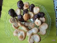 Palmeritas de hojaldre con azucar y chocolate