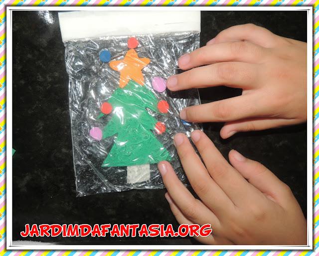 Atividade Sensorial Pinheirinho de Natal