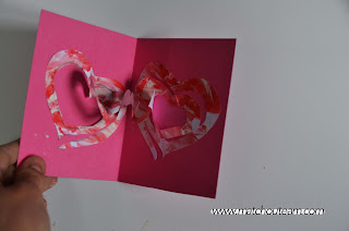 carte coeur popup