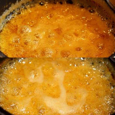 Observation fin de cuisson confiture melon