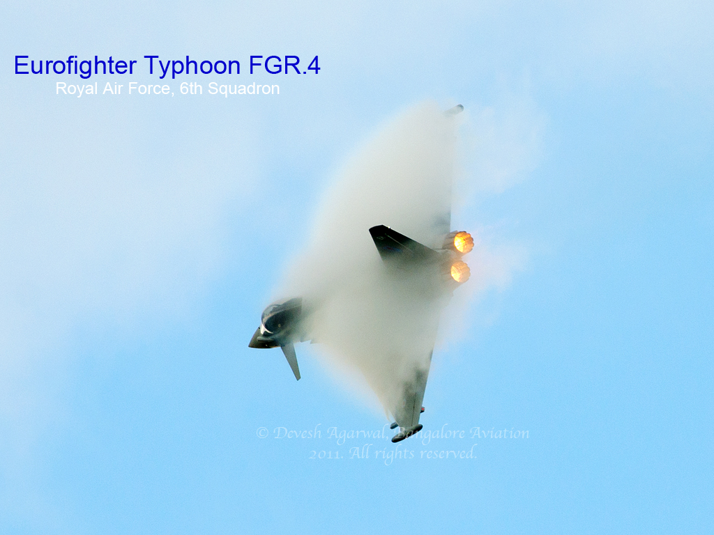 Eurofighter Typhoon FGR.4 Block 10 production tail number EH BS094 build number 1355 serial ZK333 6th squadron Royal Air Force