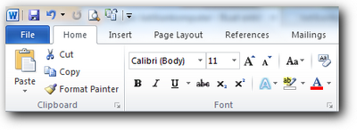 ribbon ms word 2010