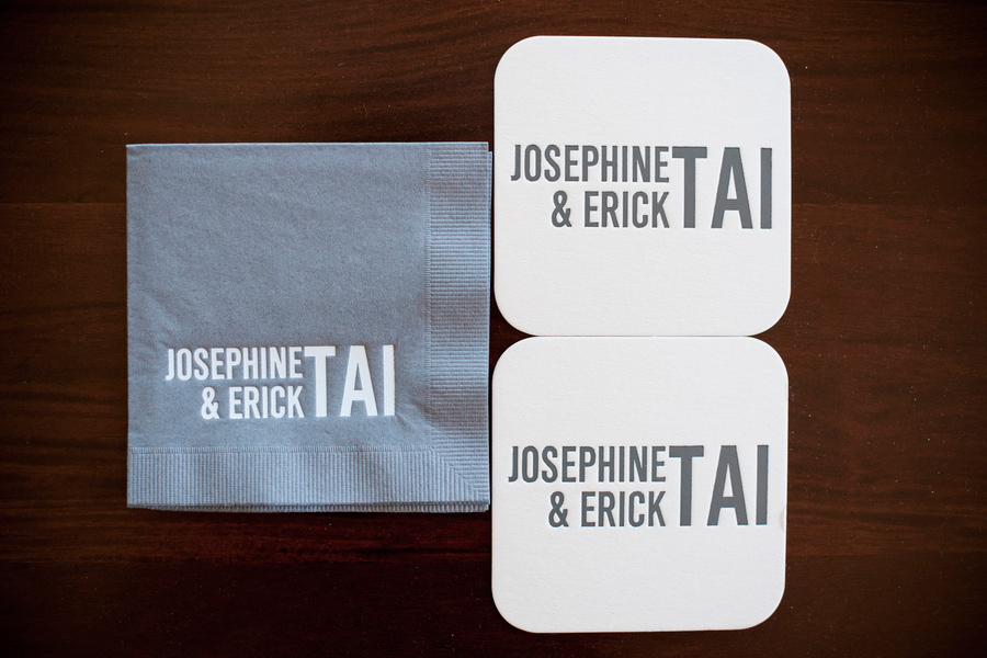 personalized napkins and coasters