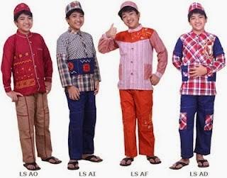 Foto Baju Batik Koko Anak