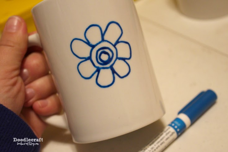 Doodlecraft doodle mugs for Craft smart paint pen on mugs