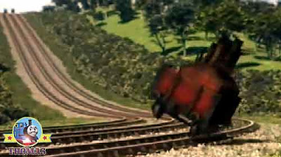 Bust my buffers cried Percy the green tank engine the Calliope smashed of the railway track corner