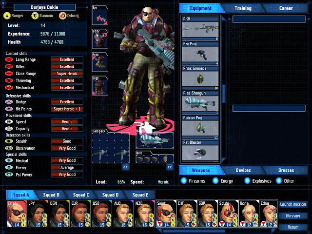 UFO Aftershock - Cyborg Equipment Screenshot.