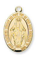 Gold Over Sterling Miraculous Medal